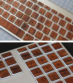 Give your keyboard some personality with these gorgeous wood keys.