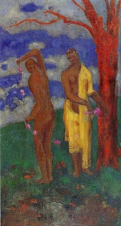 Odilon Redon 'Two Women beneath a  Red Tree'