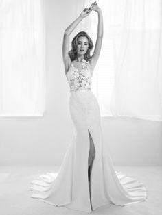 Sexy wedding dress with transparencies - Pronovias