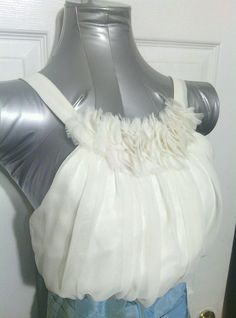 Alvina Valenta formal dress wedding brides maides size 12 Chiffon white blue