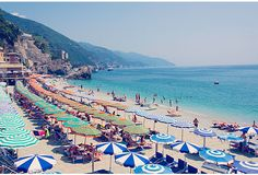 """Gray Malin Montorosso Umbrellas, Cinque Terre 