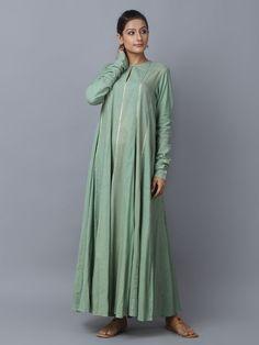 Green Cotton Anarkali