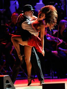 Jenna Dewan and Channing Tatum put on a show at the Revlon Concert for the Rainforest Fund at Carnegie Hall in NYC.