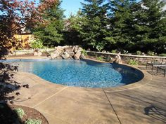 Our stamped and colored concrete is a perfect option for your pool deck surface. Stamped concrete pool decks are gaining … Swimming Pools Backyard, Swimming Pool Designs, Pool Decks, Pool Landscaping, Lap Pools, Indoor Pools, Landscaping Software, Pool Pavers, Concrete Pool