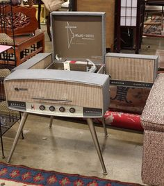 New vintage modern furniture record player ideas