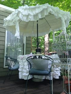 7 ft white umbrella cover-made to order