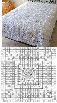 Baby Knitting Patterns Shawl Crocheting Patterns Book 300 Japanese craft book by MeMeCraftwork motif sympa pour un plaid Pineapple motif the pattern diagram shows this is much easier than it looks crochet by john – Artofit Crochet baby blanket - easy, q Crochet Bedspread Pattern, Crochet Square Patterns, Crochet Motifs, Crochet Quilt, Crochet Blocks, Crochet Mandala, Crochet Diagram, Crochet Chart, Crochet Squares