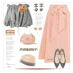"""""""gingham style"""" by katymill ❤ liked on Polyvore featuring Lisa Marie Fernandez, Marques'Almeida, Jimmy Choo, Chanel, Zanzan, Accessorize, rag & bone, vintage and gingham"""
