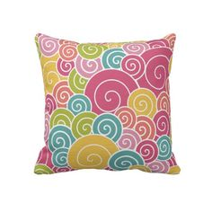 Colorful Swirls Pillows