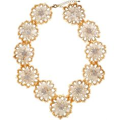 Champagne flowers necklace ~ Emma Cassi