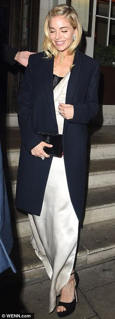Meal: Later in the evening, Sienna was seen departing a post-premiere meal at 34 Restauran...