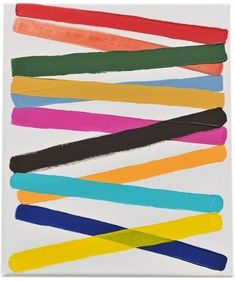 wowgreat:  Work No. 1165  2011  Acrylic on canvas  12 x 10 in / 30.5 x 25.4 cm (via Martin Creed Work No. 1165)