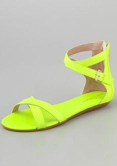 Rebecca Minkoff sandals in neon