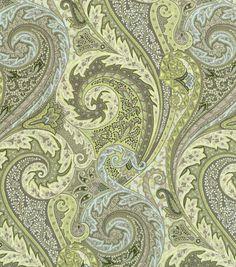 Upholstery Fabric-Williamsburg Jaipur Paisley ShadeUpholstery Fabric-Williamsburg Jaipur Paisley Shade,