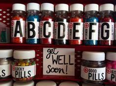 Candy pills.