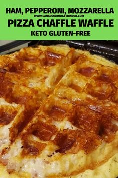 This Keto Pizza Chaffle Waffle is filled with gooey Italian Mozzarella homemade pizza sauce pepperoni ham and onion. Its SO good and SO easy to make! My entire family loves Chaffle Waffles even our 5 year old son. - Waffle Maker - Ideas of Waffle Maker Keto Foods, Keto Snacks, Health Foods, Health Tips, Low Carb Keto, Low Carb Recipes, Cooking Recipes, Protein Recipes, Pork Recipes