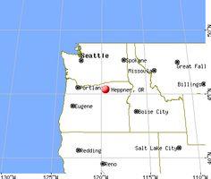 Heppner, Oregon map
