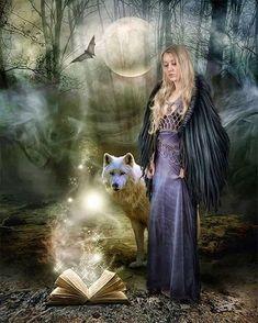 Fantasy Wolf, Dark Fantasy, Fantasy Art, Wolf Spirit, Spirit Animal, Wolves And Women, Gypsy Moon, Wolf Love, Tier Fotos