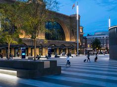 Kings Cross Square, UK #Lighting #Design  Project  Lighting Project: Fractal Lighting Design Architectural Project: Stanton Williams Darcaward 2015- Best #Landscape Scheme – High Budget, Shortlist Best Landscape Scheme #Lighting #Design Award 2015 - Exterior Lighting Project of the Year