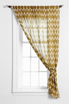 Magical Thinking Chevron Curtain, 54 x 84, Mustard, 2 $39