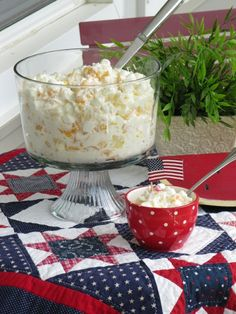 Heavenly Hash or Ambrosia Recipe. This could be a dessert. Would be really good with pound cake.
