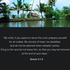 Sirach 2:1-3