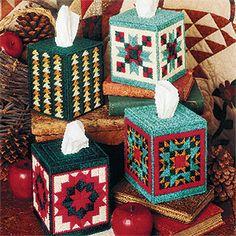 Leisure Arts - Cozy Quilt Boutiques Plastic Canvas Patterns ePattern, $4.99 (http://www.leisurearts.com/products/cozy-quilt-boutiques-plastic-canvas-patterns-digital-download.html)