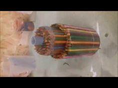 woodturning-Pencil Vase Blank - YouTube