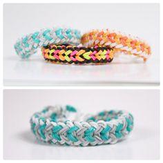 Rainbow Loom Small Basket Weave - Teal Waves