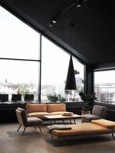 Fredericia's new rooftop showroom in Copenhagen - light spaces - minimal design - mid-century furniture design - loft-style living