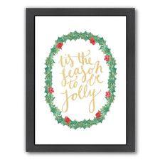 Tis the Seaso Framed Textual Art