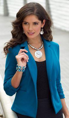 Best Blazer.  catofashions.com - good blazer, good top, great bracelet.... I could wear this combo