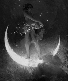 la luna y las estrellas