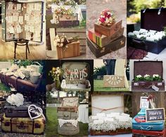 These vintage suitcase ideas are simply AMAZING! I will pin individual pics, since this really doesn't do the beauty of each one justice.