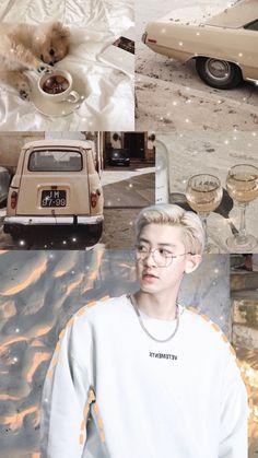 Foto Chanyeol Exo, Chanyeol Cute, Kpop Exo, Sehun, Aesthetic Backgrounds, Aesthetic Iphone Wallpaper, Aesthetic Wallpapers, Brown Aesthetic, Aesthetic Vintage