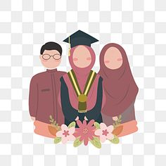 Education Clipart, Family Clipart, Muslim Family, School Clipart, Flower Clipart, Clipart Images, Prints For Sale, Line Art, Original Artwork