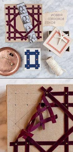 DIY RIBBON BORDER BOXES