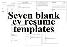 Fill In Resume Template Free Beautiful 7 Free Blank Cv Resume Templates for – Free Cv Template Resume Format Free Download, Free Printable Resume Templates, Modern Resume Template, Resume Design Template, Cv Template, Templates Free, Resume Format In Word, Sample Resume, Resume Layout