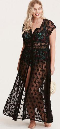 88443711eafc3 Plus Size Crochet Maxi Swim Cover Up Swim Cover