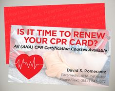 Cpr Certification Instructor Business Card Design Medical Business Card Cpr Card Cpr Training