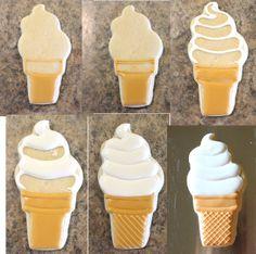 CookieCrazie ~ Soft Serve Ice Cream Cone Cookie (Tutorial)