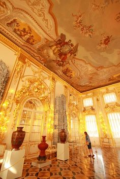 Majesty and royalty, that is the  Catherine Palace in Russia.