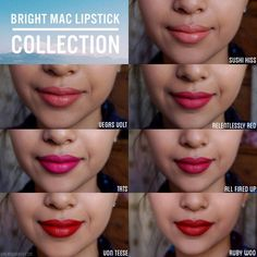 Summery mac lipsticks for tan skin