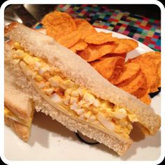 Easy Egg Salad Sandwich for One! I usually cook for two but with my husband gone I've been trying to cook for just one. It's tough people! I always end up with too much food. So the other day I had some leftover hard boiled eggs and decided to make a quick egg salad sandwich. It was incredibly easy and I had zero leftovers. The perfect combo!  I cut up two hard boiled eggs, mixed in about a tablespoon of light mayonnaise, a teaspoon of yellow mustard and sprinkled on some sa