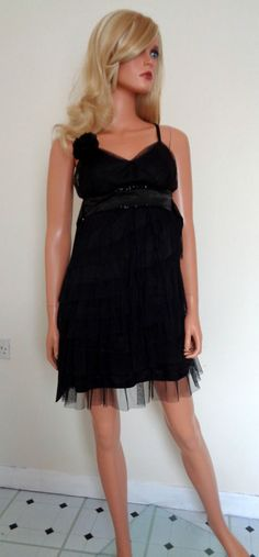 Ladies Black Tiered Dress By Rise Size 10 in Clothes, Shoes & Accessories, Women's Clothing, Dresses | eBay!