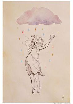 i ♥ the rain Rainbow Rain by PeekArt