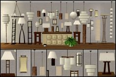 33 Lamps - Seven different lamp collections
