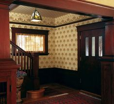 Wallpapered ceilings remained popular into the Arts & Crafts era. (Photo: Douglas Keister) | Old House Journal Walls & Ceilings Month—31 days of inspiration & advice sponsored by www.wfnorman.com