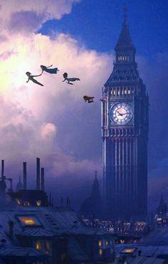 """Campanellino :""""perché non riesco a volare? """" Peter Pan :""""per volare hai bisogno di ritrovare i tuo pensieri felici ."""" Quando il primo bambino rise per la prima volta, la sua…"""