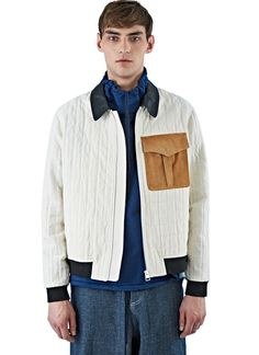 J.W. Anderson Leather Combo Bomber | LN-CC